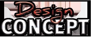 Design Concept, créateur de mobilier d'agencement sur mesure. Logo